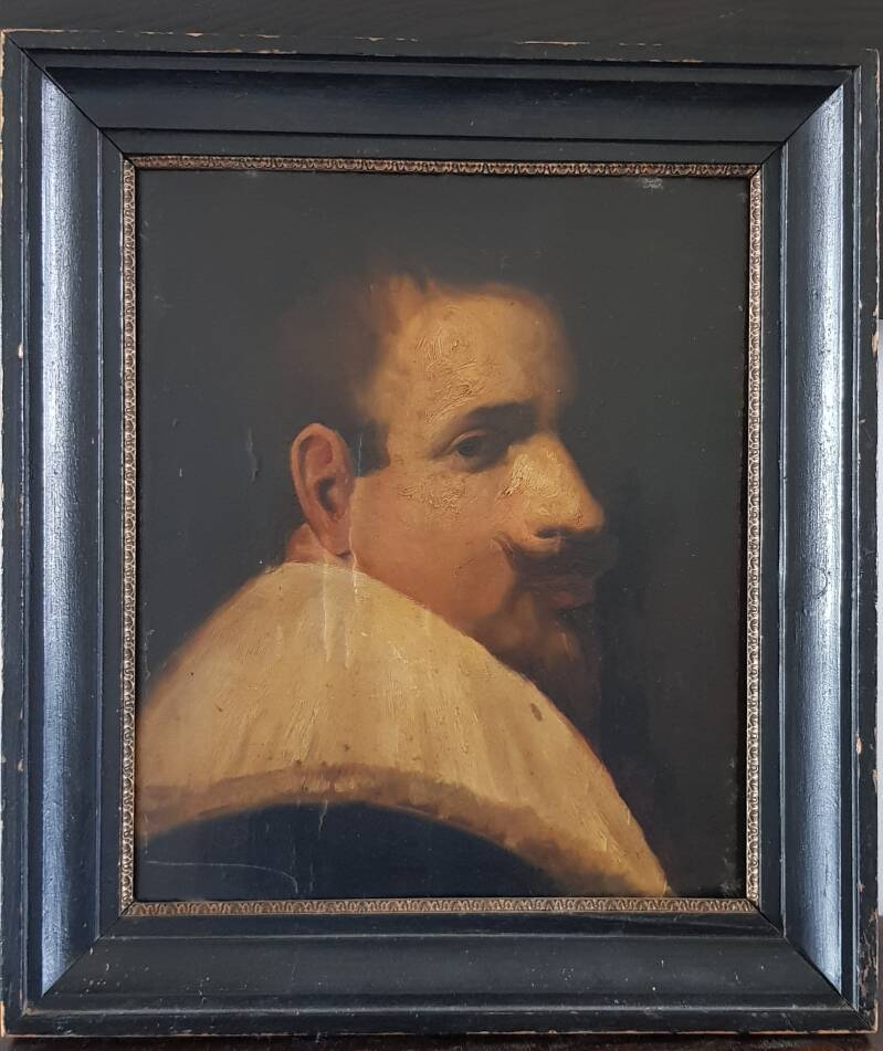 Portret 'Duckface' - Inspired by Rembrandt - framed unsigned