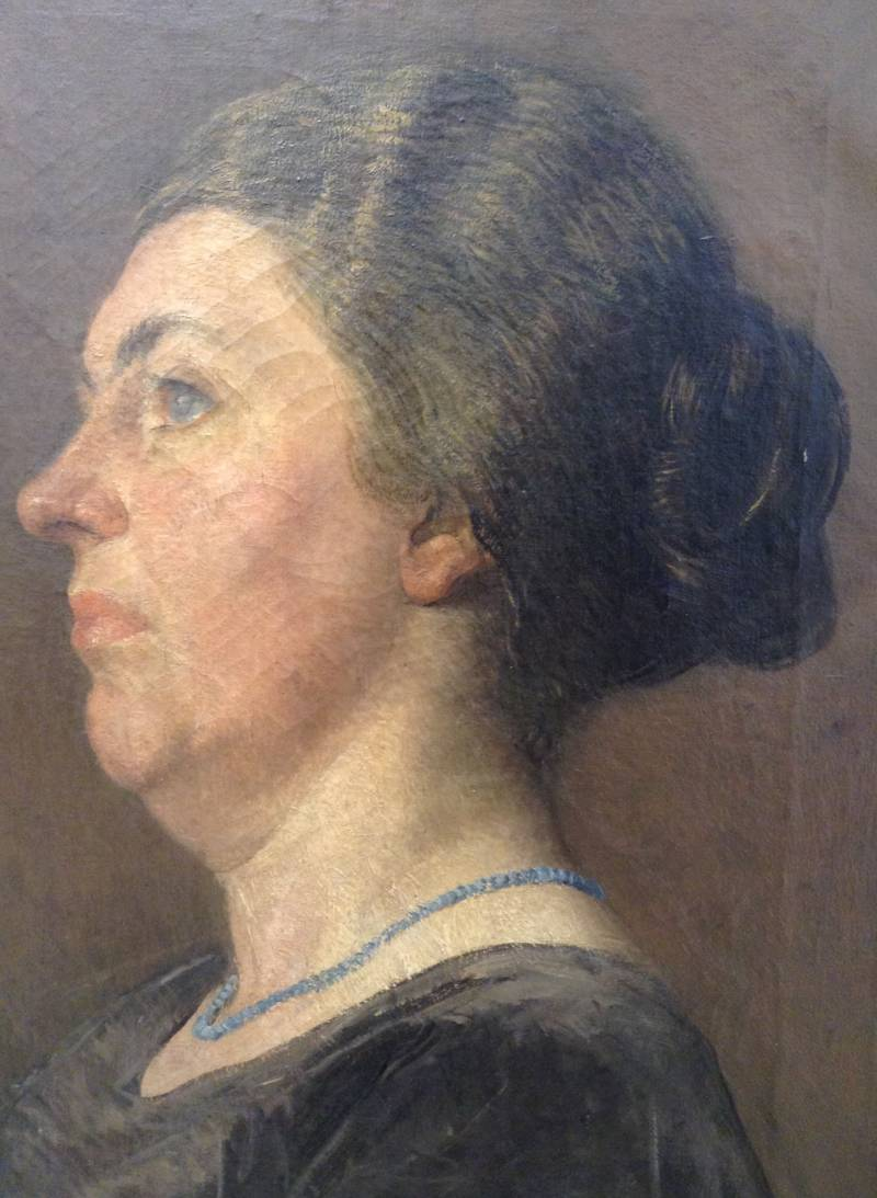 Amazing oilpainting lady / Dame olieverf
