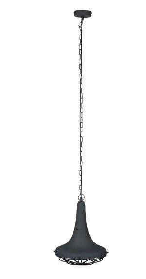 Hanglamp Wout 145 cm staal donkergrijs