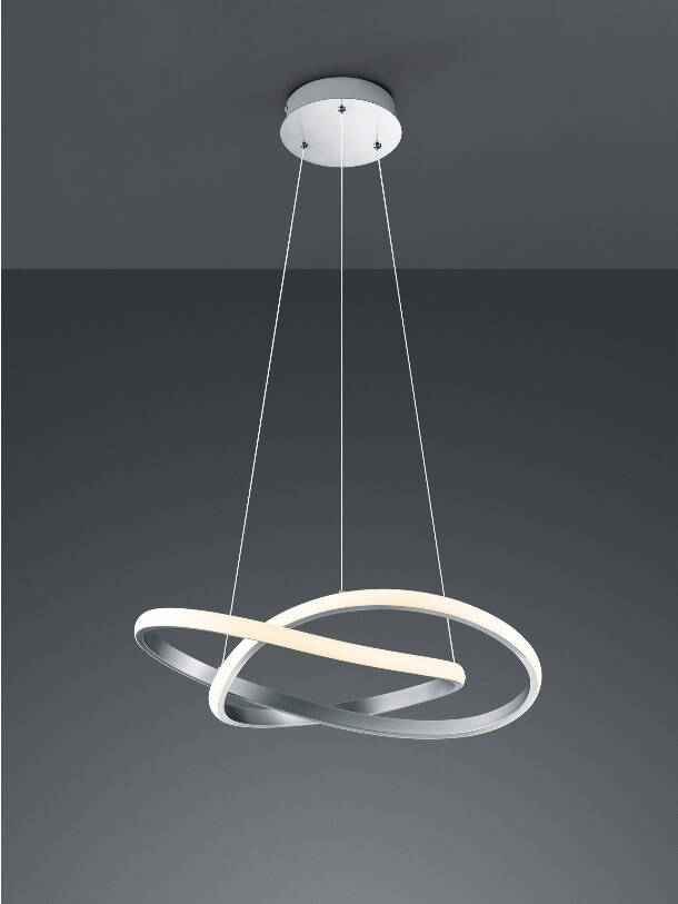 Reality hanglamp Course 150 x 60 cm staal wit/zilver