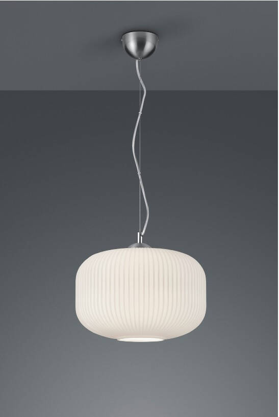 Reality hanglamp Kilian 150 cm staal/glas wit/zilver