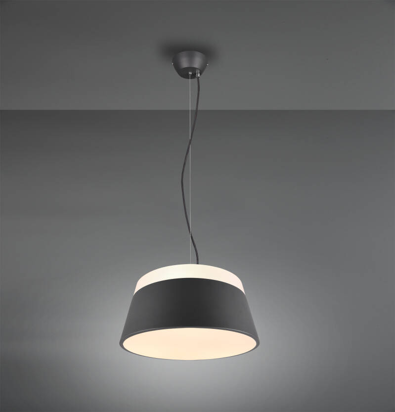 hanglamp Baroness 45 cm staal antraciet
