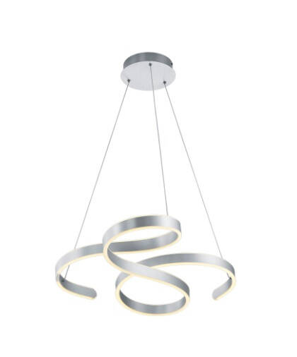 Hanglamp Francis 150 x 72 cm led staal zilver