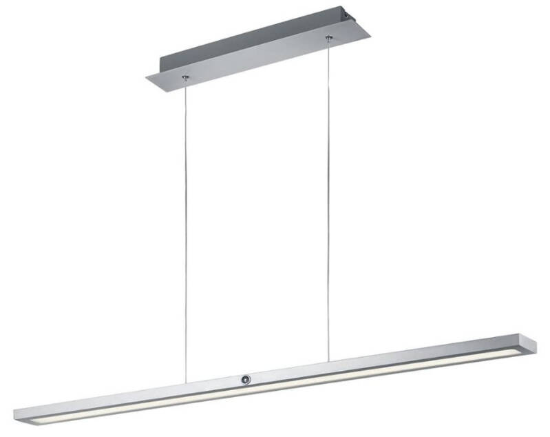 hanglamp Silas 115 cm led staal/acryl matzilver/wit