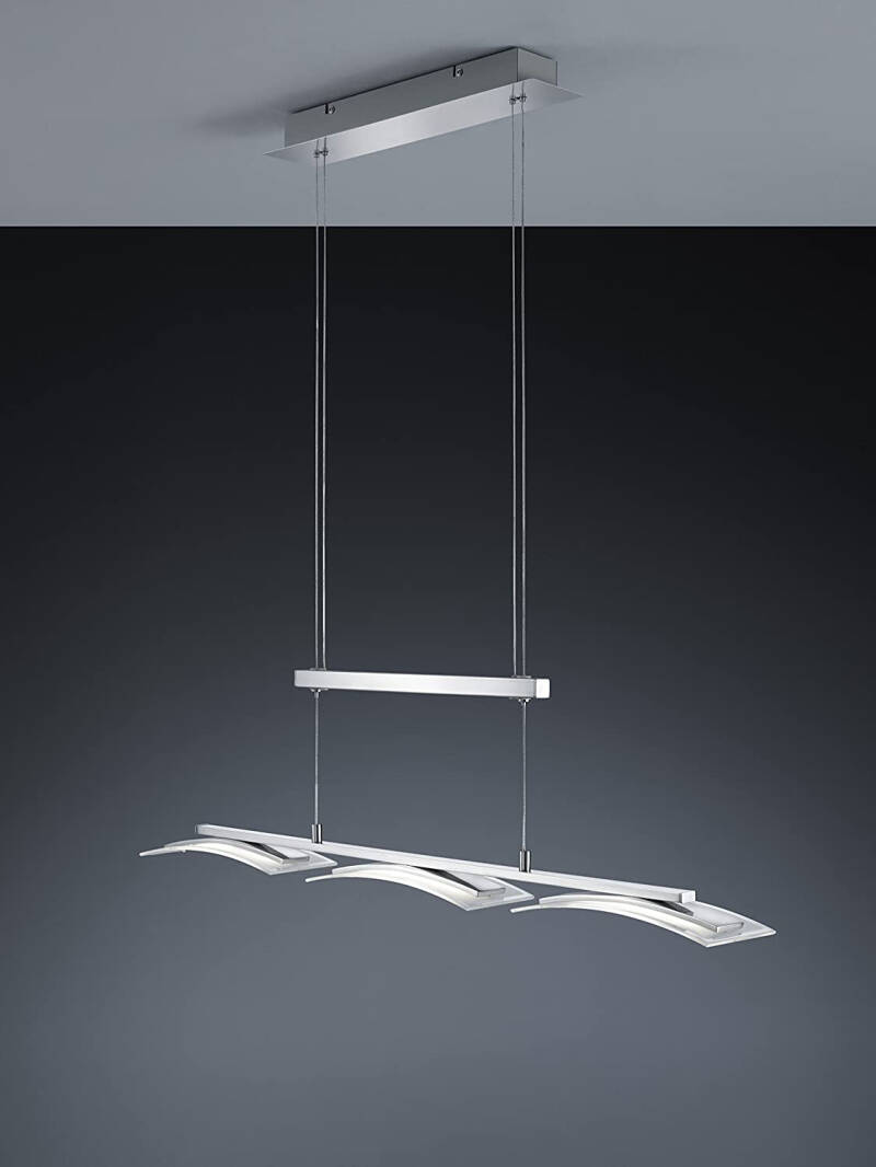 Hanglamp Stakkato 150 cm staal/glas zilver/transparant