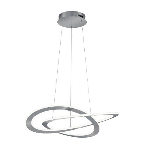 Hanglamp Oakland 71 cm led staal/acryl grijs