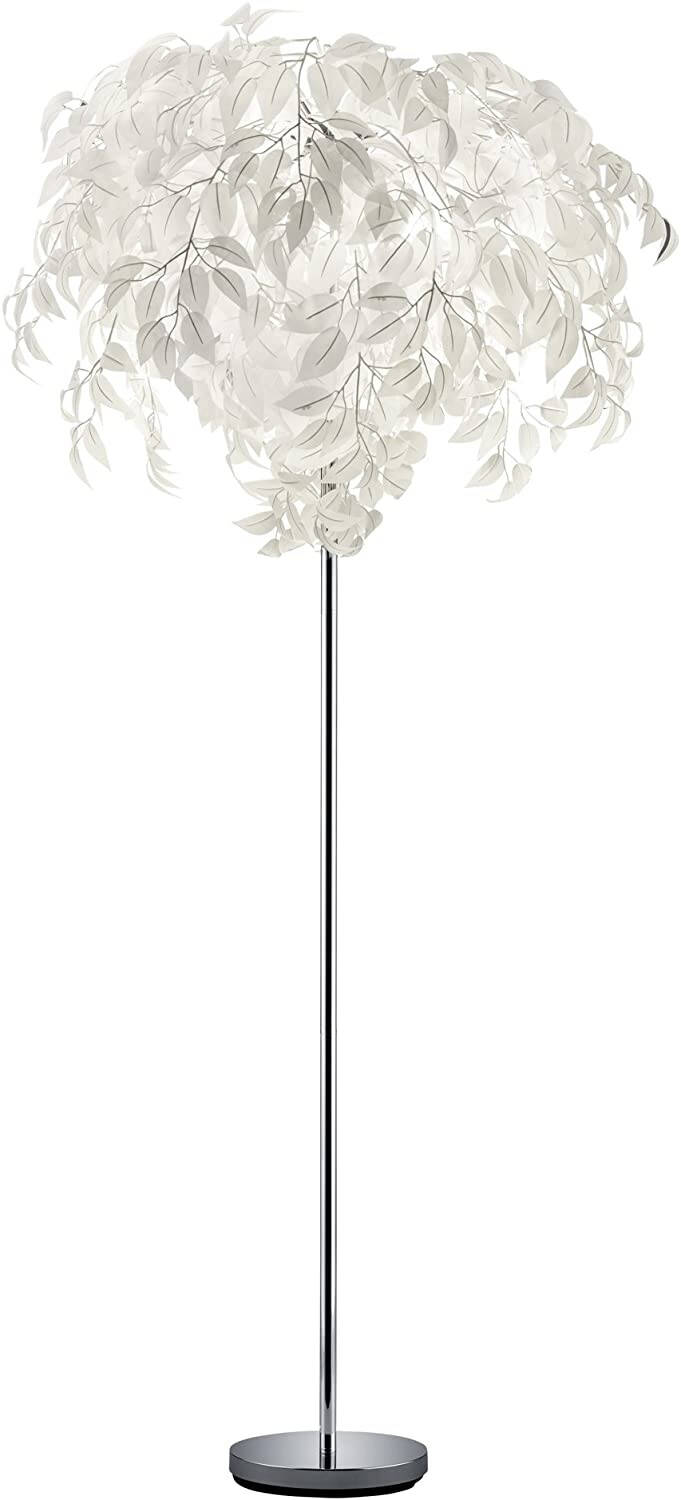 Vloerlamp Leavy 180 x 70 cm staal wit