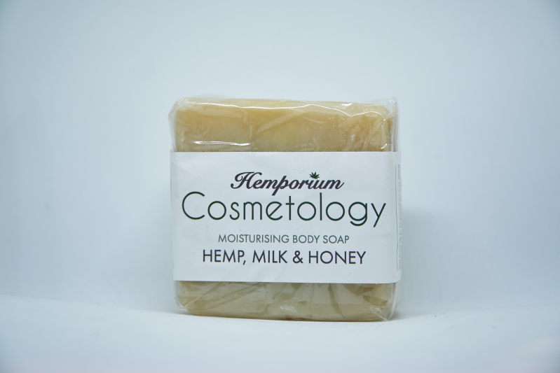 Hemp soap with milk and honey