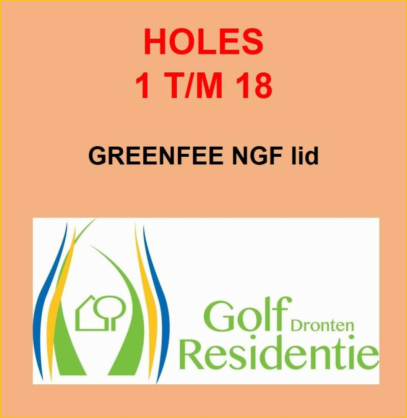 Greenfee NGF lid 18 holes