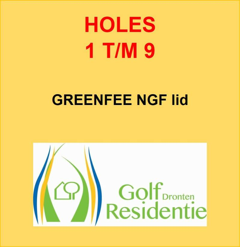 Greenfee NGF lid 9 holes