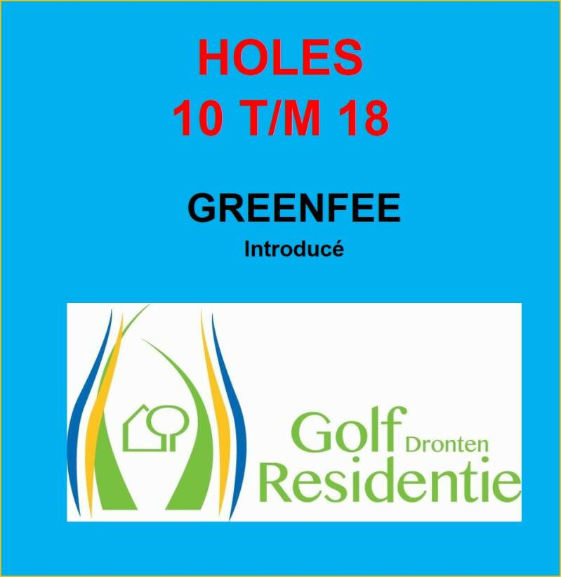 Greenfee Introducé holes 10 t/m 18