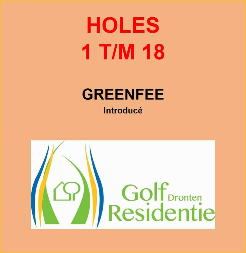 Greenfee introducé 18 holes