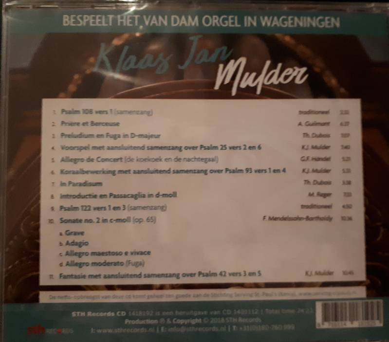 cd Klaas Jan Mulder