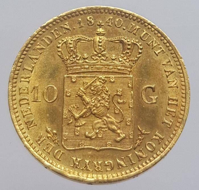 Gouden 10 Gulden Willem I 1840 over 1837   ***UNC***