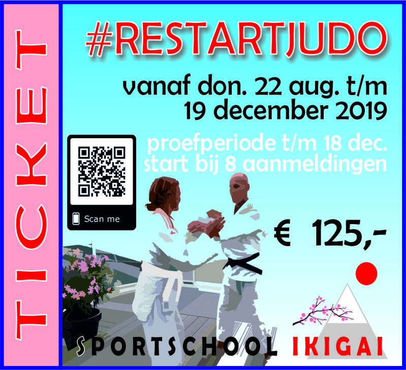 TICKET (RE)START JUDO