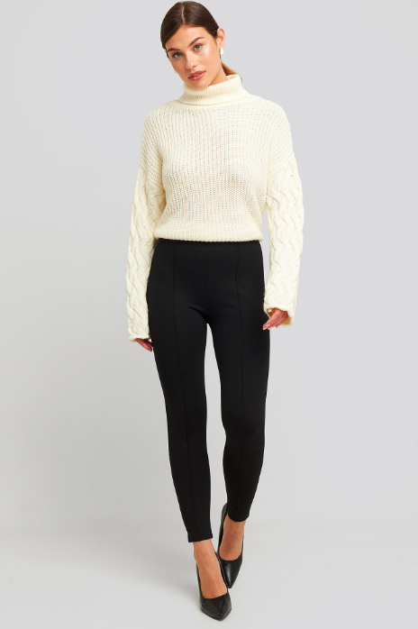 Detail knitted oversized sweater