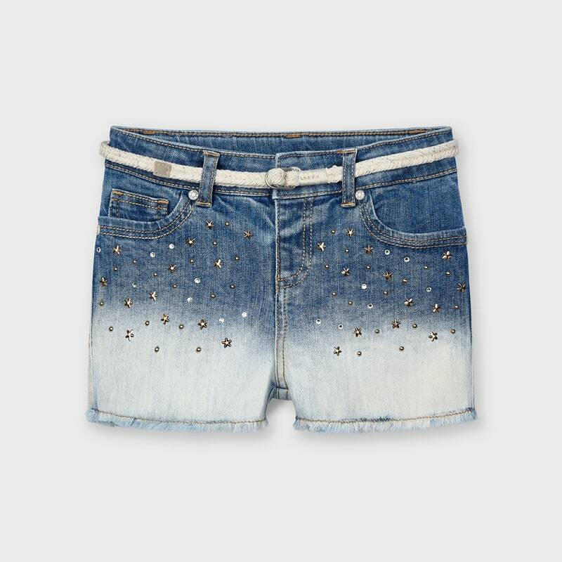 JEANSSHORT FADED STRASS MAYORAL REF 3210