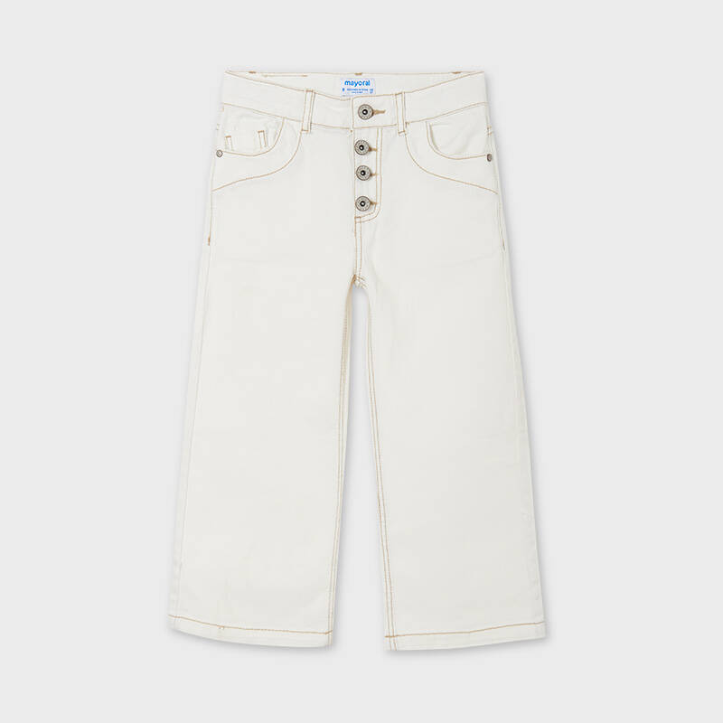 BROEK OFF WHITE KNOPEN WIDE LEG MAYORAL JUNIOR REF. 6546
