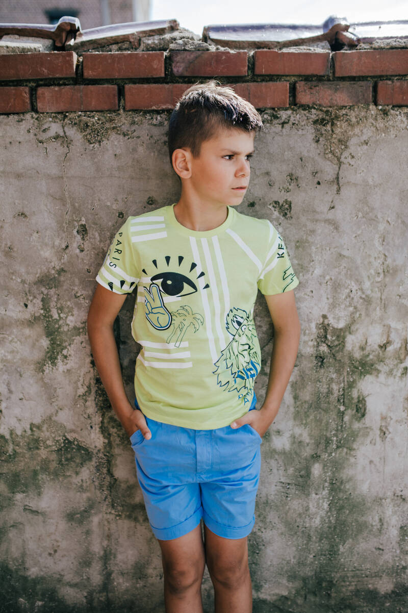 T SHIRT KENZO ALL OVER PRINT GEEL REF. KQ10528