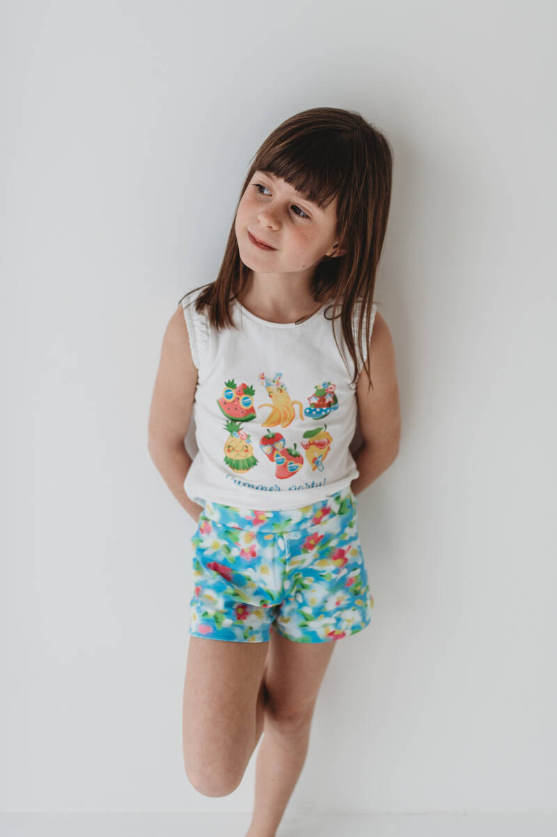 SETJE SHORT MET TOP FLOWER MAYORAL REF 3218