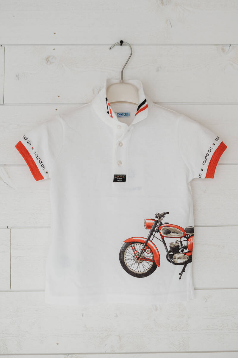 POLO WIT MOTOR PRINT MAYORAL REF 3108