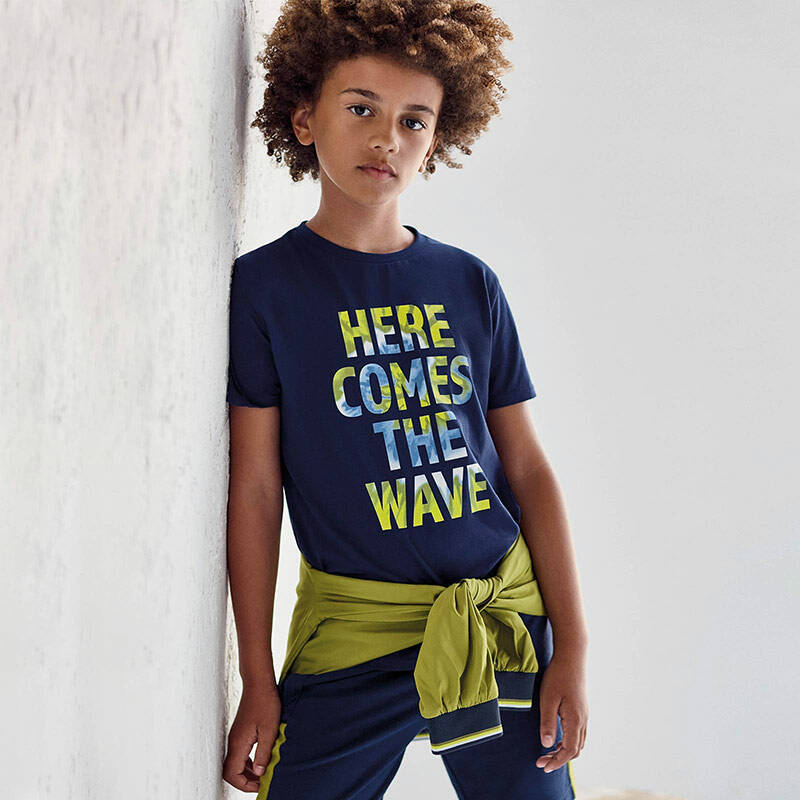 SHORTSLEEVE NUKUTAVAKE HER COMES THE WAVE NAVY REF 6080