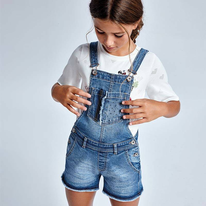 SALOPETTE KORT JEANS MAYORAL JUNIOR REF 6621