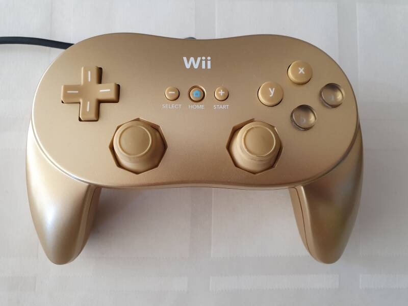 Gouden Classic Controller pro Wii