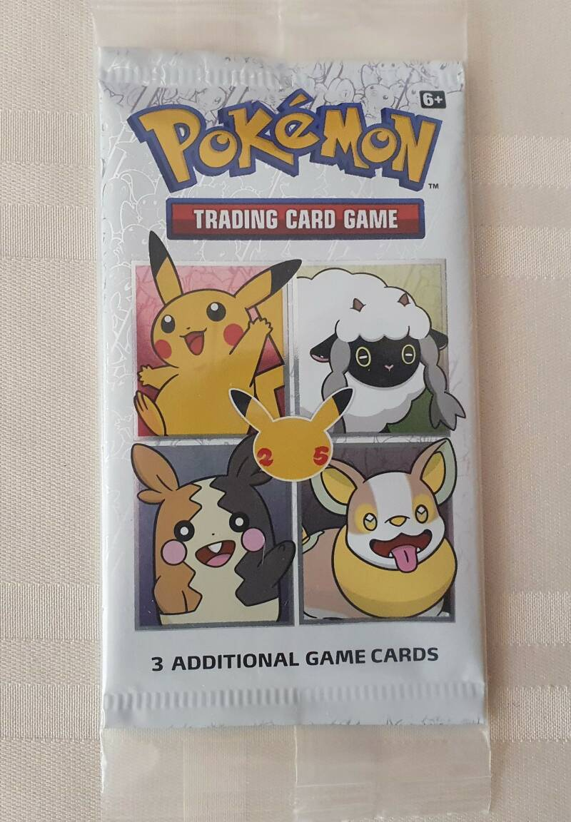 General mills 25th anniversey pokemon cards pack