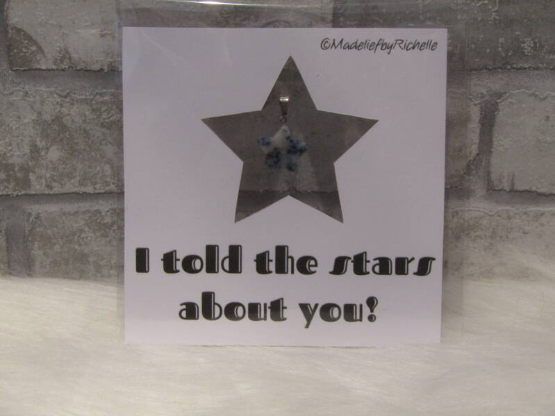 Kaart I told the stars about you
