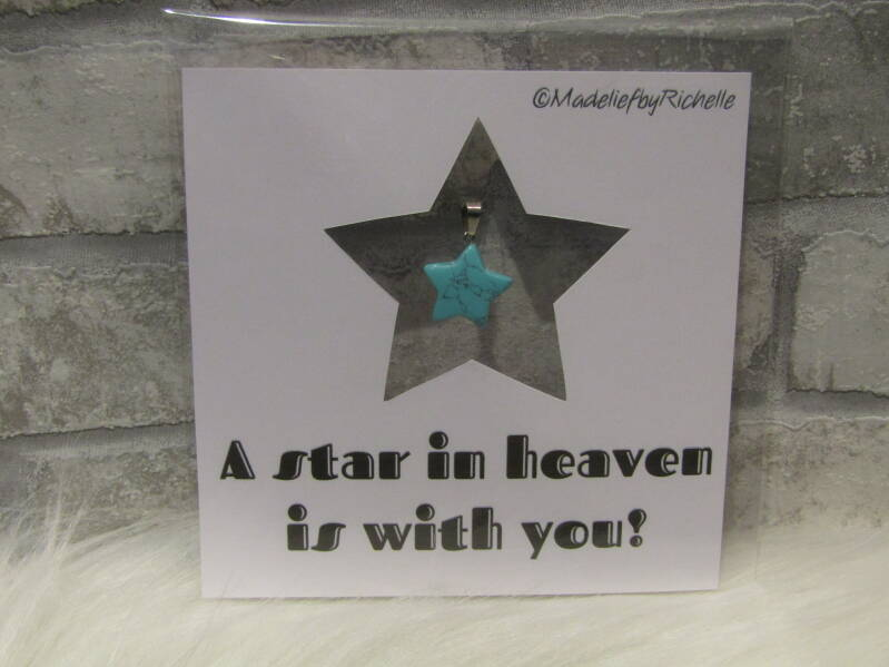 Kaart A star in heaven is with you