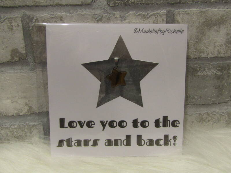 Kaart Love you tot stars and back