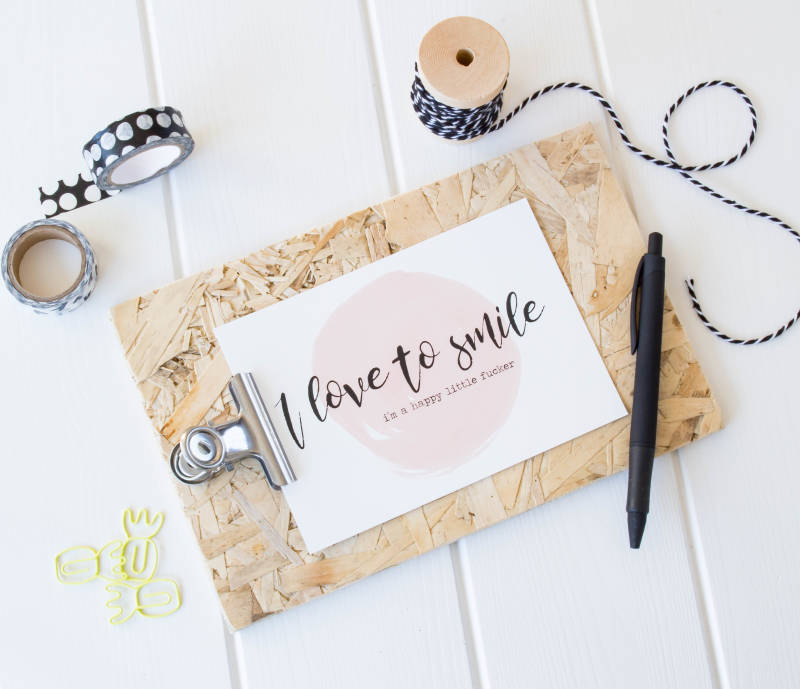 Quotekaart - I Love To Smile