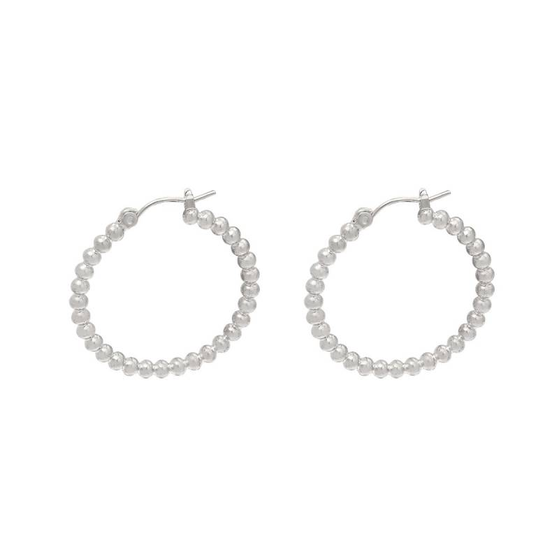 Dots earrings silver
