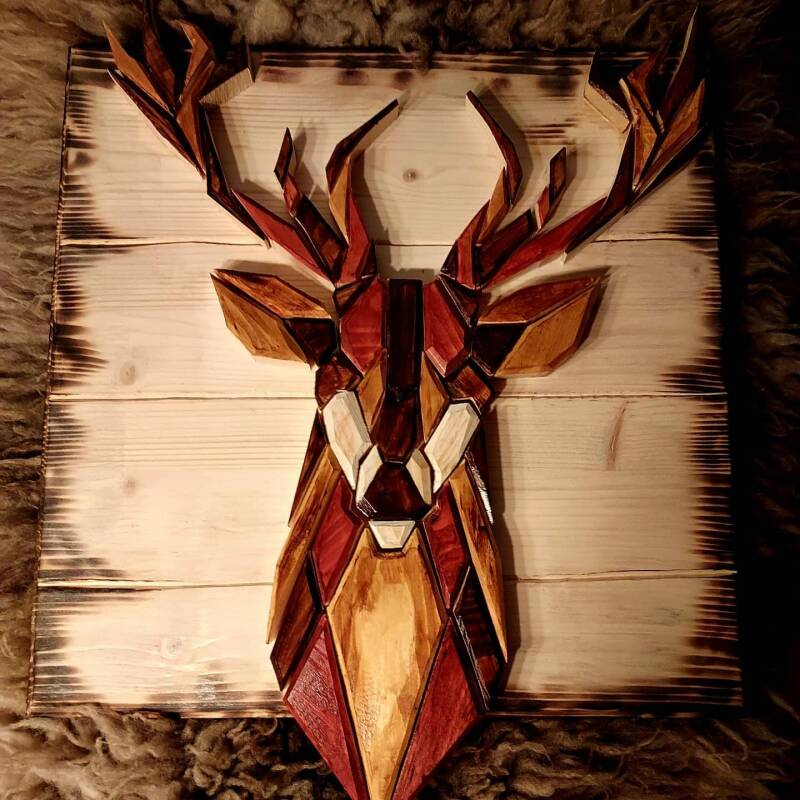 Geometrical Red Deer