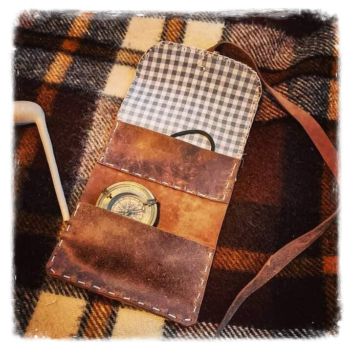 Pouch for fire kit, tobacco, or sewing materials