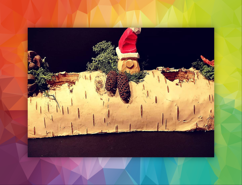 Yule log with gnome