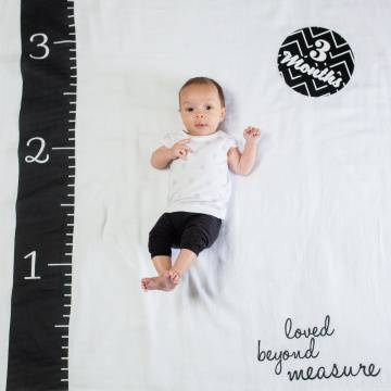 Lulujo swaddle & cards | Loved beyond measure