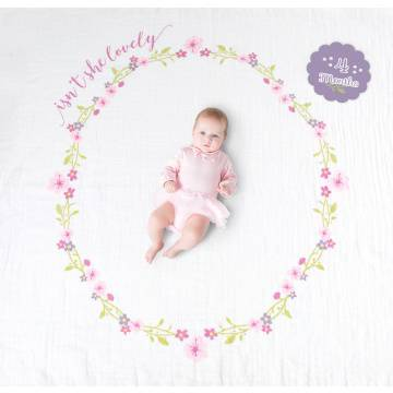 Lulujo swaddle & cards | Isn't she lovely