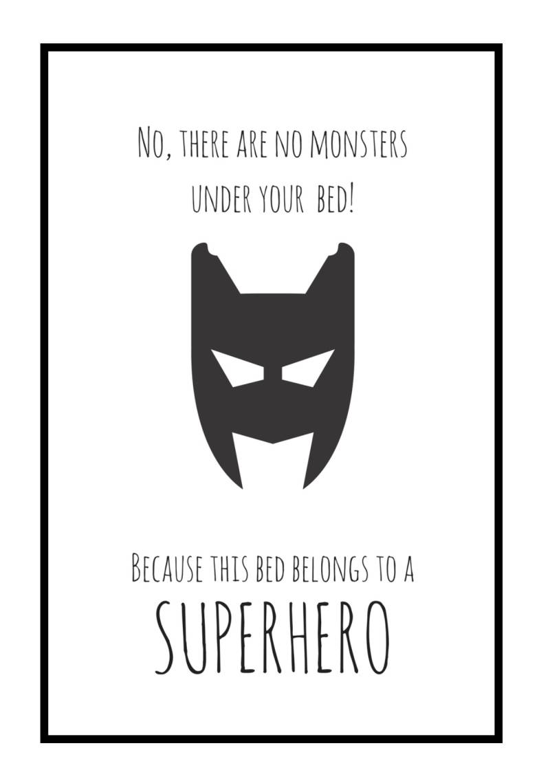 poster met lijst | monsters - superhero