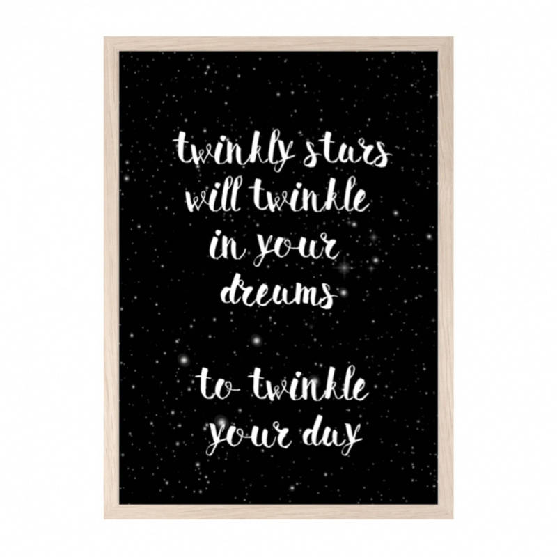 A3 poster | twinkly stars