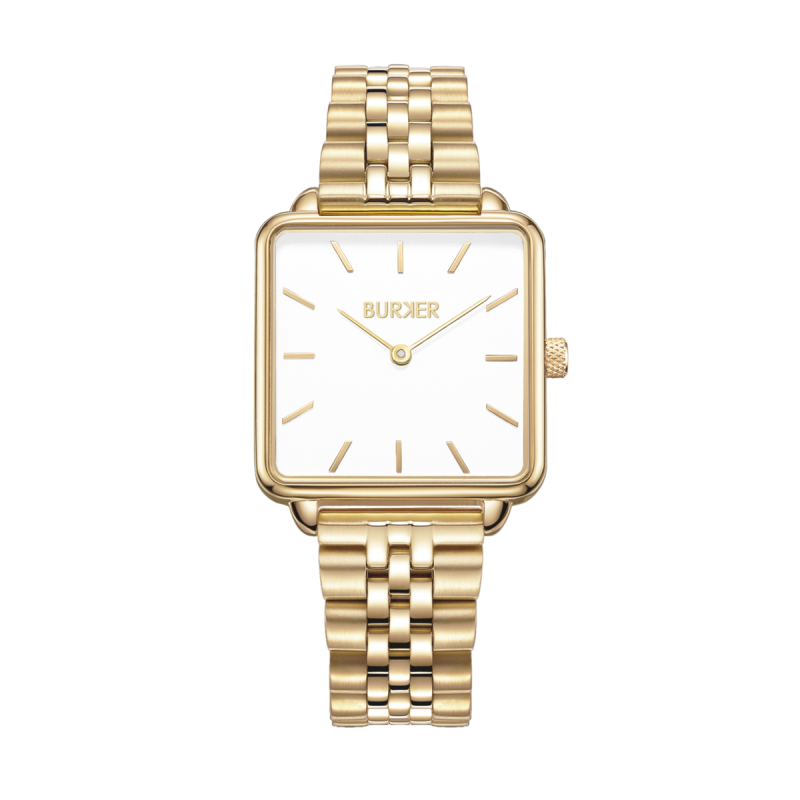 Burker Watch   Chloe Gold White Limited Edition