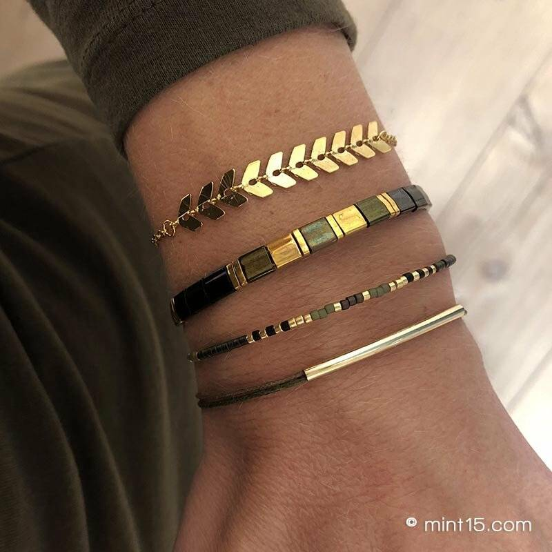 Bracelet set 'Chic Army Green'