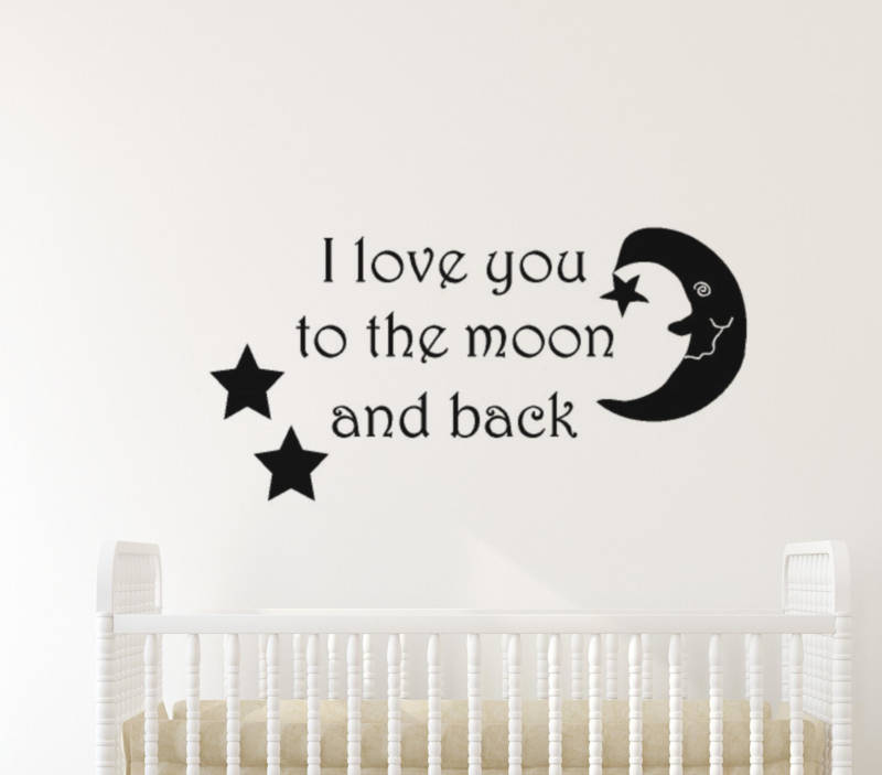 Muursticker I love you to the moon