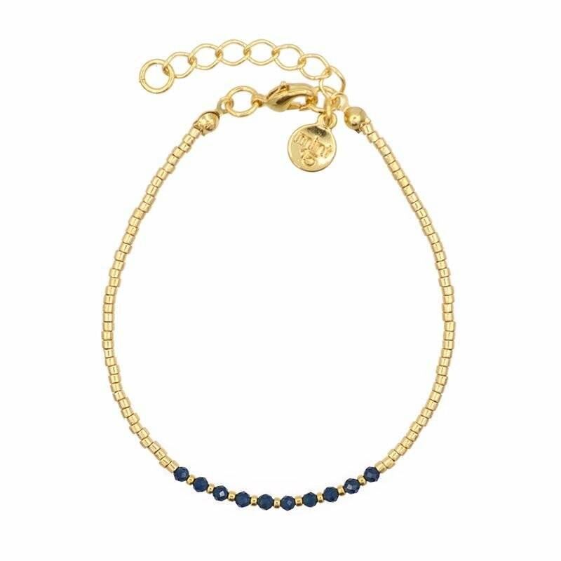 Little Jade Beads – Navy Blue