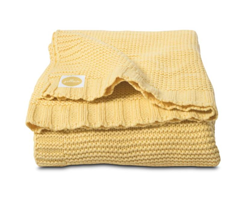 Deken Jollein | Chunky knit yellow""
