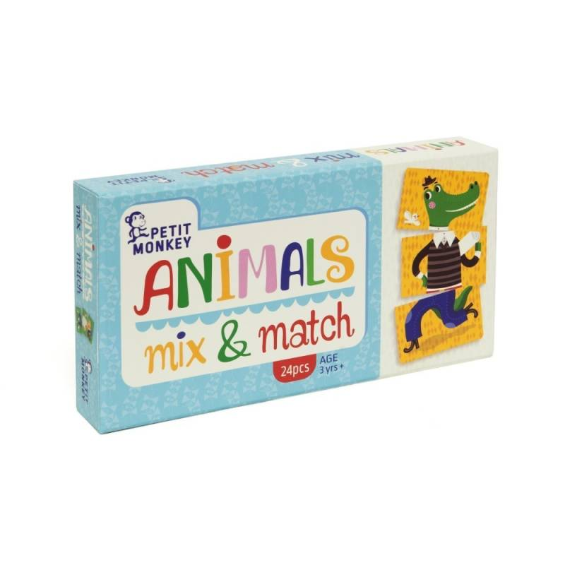 Petit Monkey Animals mix & match 3 jr+