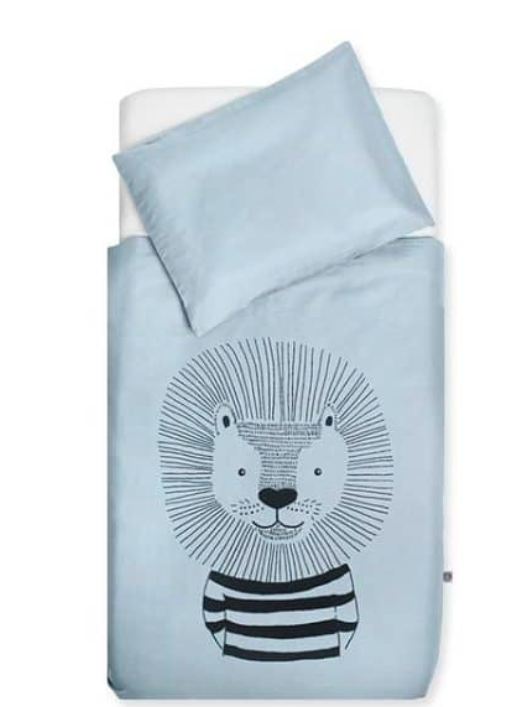 Jollein Overtrek En Sloop | Wild Animals - Soft Blue | 140 x 200