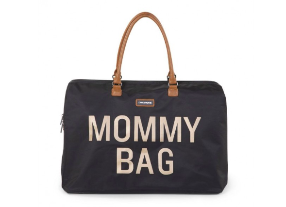 Mommy Bag | Black & Gold luiertas | Childhome