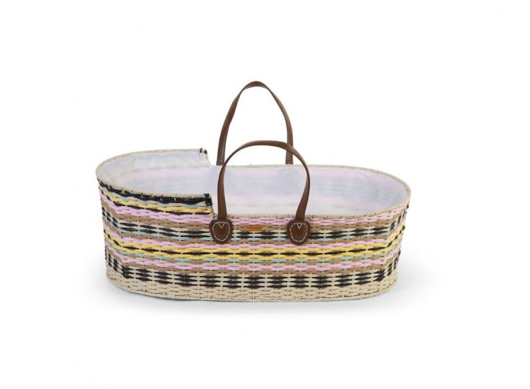 Mozes basket inclusief matras | Brown Leather | Childhome